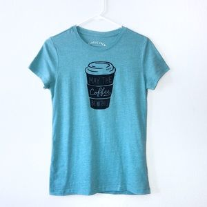 AEROPOSTALE May the Coffee Be With U Graphic Tee L